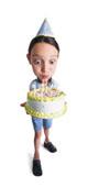 fille avec gâteau