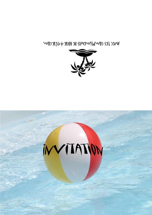 Pool Invitations is best invitations sample